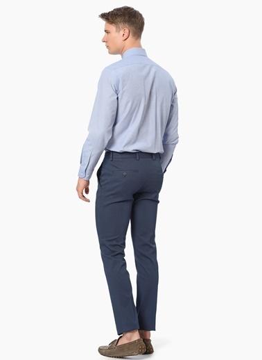 George Hogg Uzun Kollu Klasik Gömlek Mavi